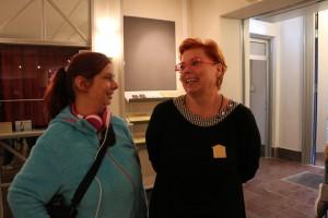 Jag träffade Lorensbergsteaterns chef Pernilla Wagnborg. Det var hon som var schysst och fixade biljetterna åt oss. Foto: Samuel Potter
