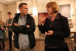 Peter Forsberg och Marie Paterson var förväntansfulla inför föreställningen. Foto: Samuel Potter