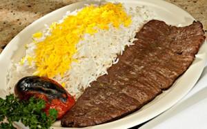 Kebab Barg, en av redaktör Mortezas favoriträtter. Bild från iranchamber.com