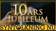 10 års jubileum för Syntolkning Nu